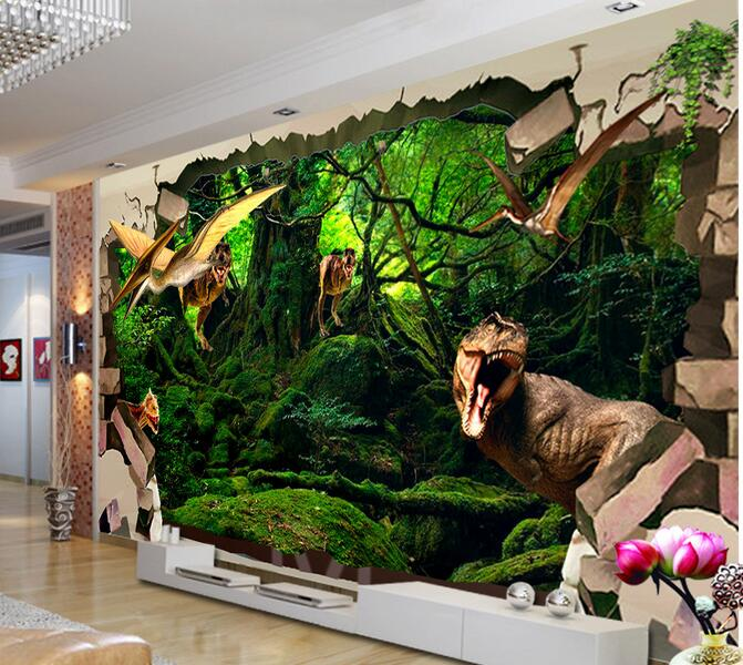 3d Room Wallpaper Custom Mural Non Woven Wall Sticker 3 D Ancient Dinosaur Broken Painting Photo For Walls In Wallpapers From Home
