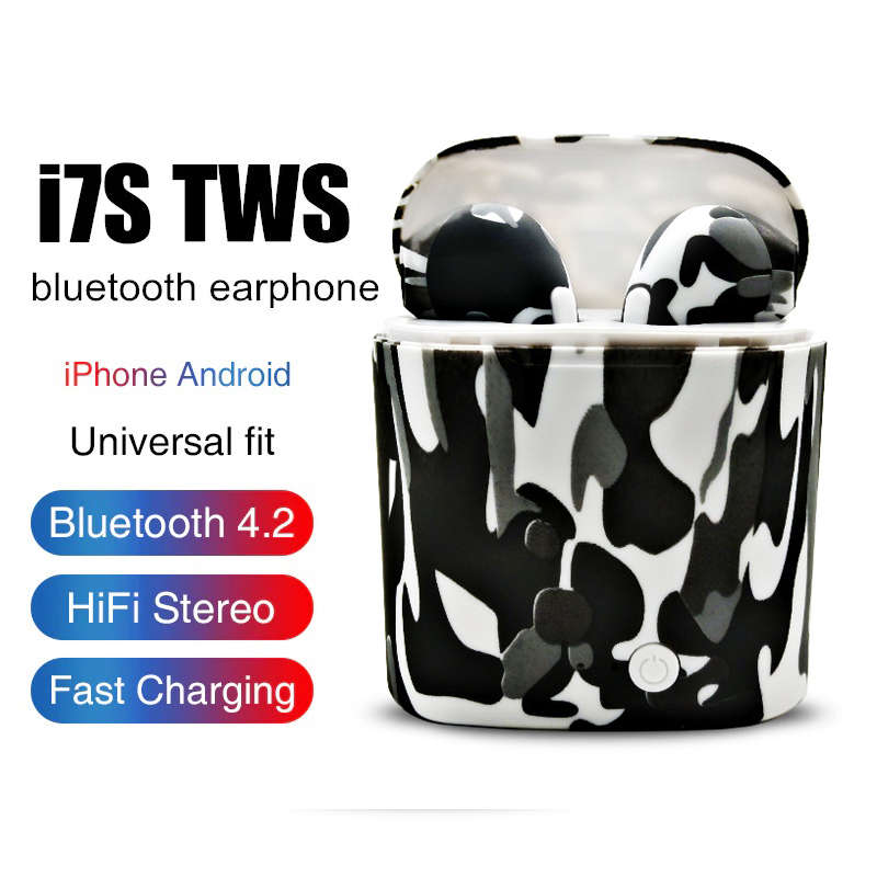 Custom Product Coloured drawing i7s Bluetooth Earphone EarbudsTwins V4.2 Stereo Headset for device