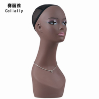 Real Female Mannequin Head Model Mannequin Head Without Hair Practice Wig Head Wig Hat Jewelry Display Manikin