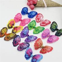 12 pçs/lote deslumbrante colorido borboleta sem grampo menina acessório de cabelo arco para diy cocar produtos semi-acabados acessórios
