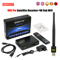 DVB-S2 V9S PRO Receptor de Satélite 1080 p Full HD H.264 Soporte MPEG-5 clinales Youtube powervu bisskey Xtreamcodes IPTV europa