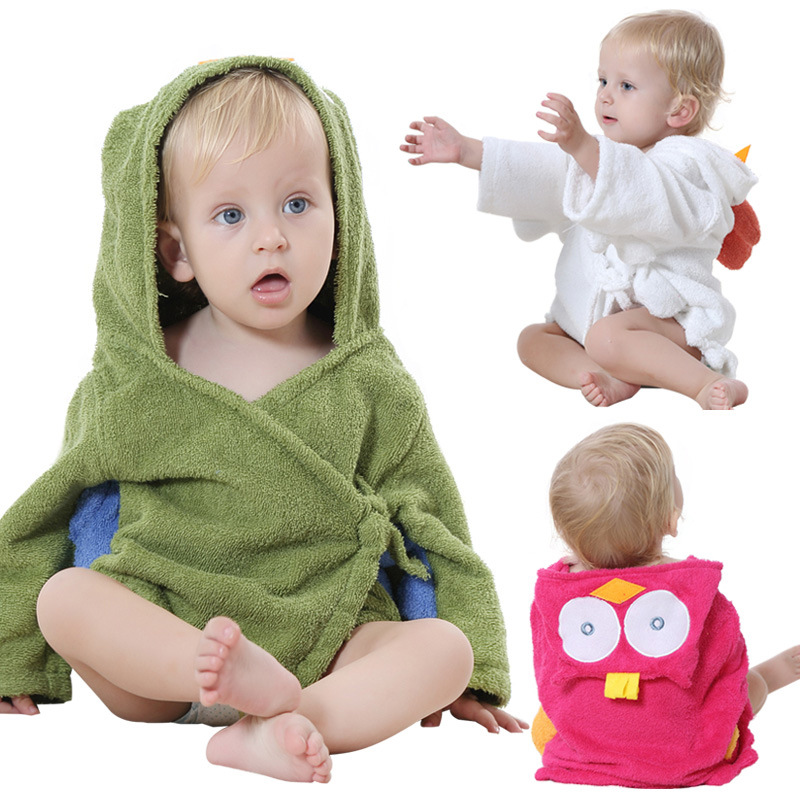 Cotton-0-24M-Baby-Towel-3D-Cartoon-Animal-Model-Baby-Spa-Towel-Hooded-Baby-Bathrobe-Character