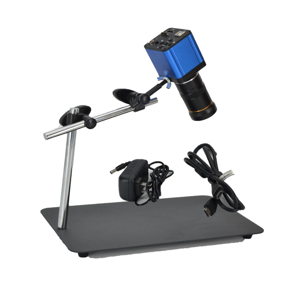 Digital Microscope with adjustable mechanical arm stand HD 16MP industrial camera for monitoring and inspection
