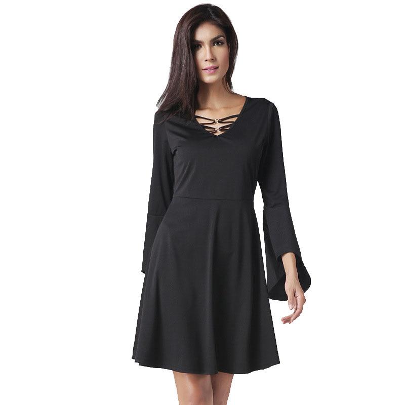Black empire style dress
