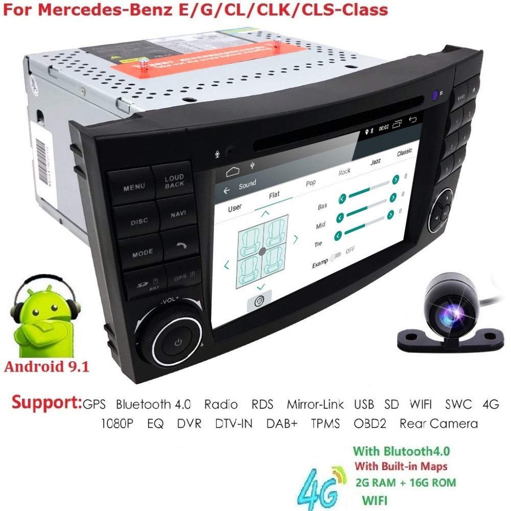 2 Din Auto Radio Android 9.1 For Mercedes/Benz/E-Class/W211/E300/CLK/W209/CLS/W219 Car Multimedia Video DVD Player GPS DVR OBD22 Din Auto Radio Android 9.1 For Mercedes/Benz/E-Class/W211/E300/CLK/W209/CLS/W219 Car Multimedia Video DVD Player GPS DVR OBD2