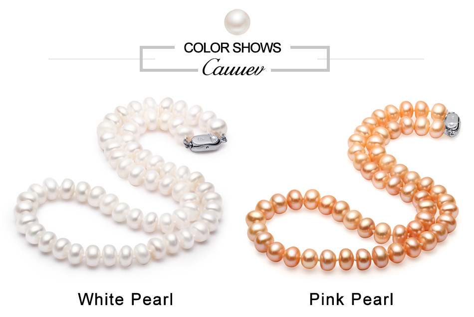HTB1yEOIHh1YBuNjy1zcq6zNcXXaR Cauuev Amazing price AAAA high quality natural  freshwater  pearl necklace  for women 3 colors8-9mm pearl jewelry pendants gift