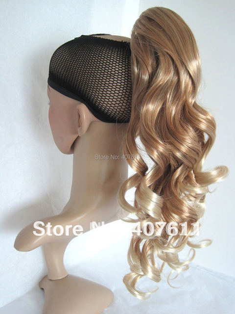 Free Shipping Wholesale Synthetic Hair Extensions Curl Ponytails