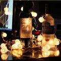 10/20/40/80 Bola LED Cadena de Hadas LED bombillas de Navidad Guirnalda decoración Vacaciones Luces de jardín de plástico salón AA batería