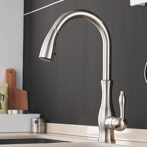 Image 5 - Kitchen Faucets Black Single Handle Pull Out Kitchen Tap Single Hole Handle Swivel 360 Degree Water Mixer Tap Mixer Tap 866011