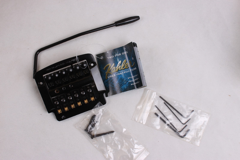 Kahler gemodificeerde electric guitar  staartstuk tremolo brug dubbele rol rocker 4300 zwart U. s. black kahler tremolo kahler usa hybrid 4300 6 string tremolo kahler tremolo