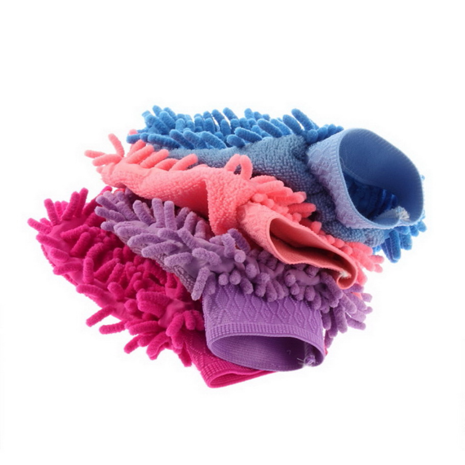 Universal Portable Car Wash Glove Ultrafine Fiber Chenille Soft Towel Microfiber Cars Cleaning Care Detailing For Automotives