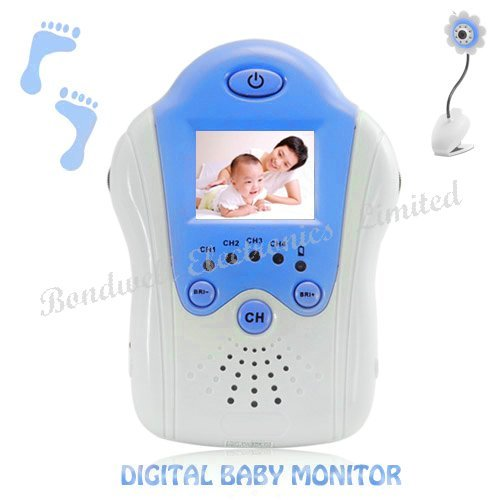 Wireless Baby monitor,2.4GHz digital video baby monitor, 1.5inch baby monitor with flower camera, Free shipping