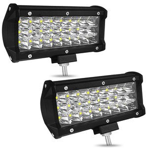 Image 2 - 7 Inch Three Rows Led Light Bar 72W Car Work Light Car Decoration Daytime Running Lights Modified Off Road Roof Light Bar