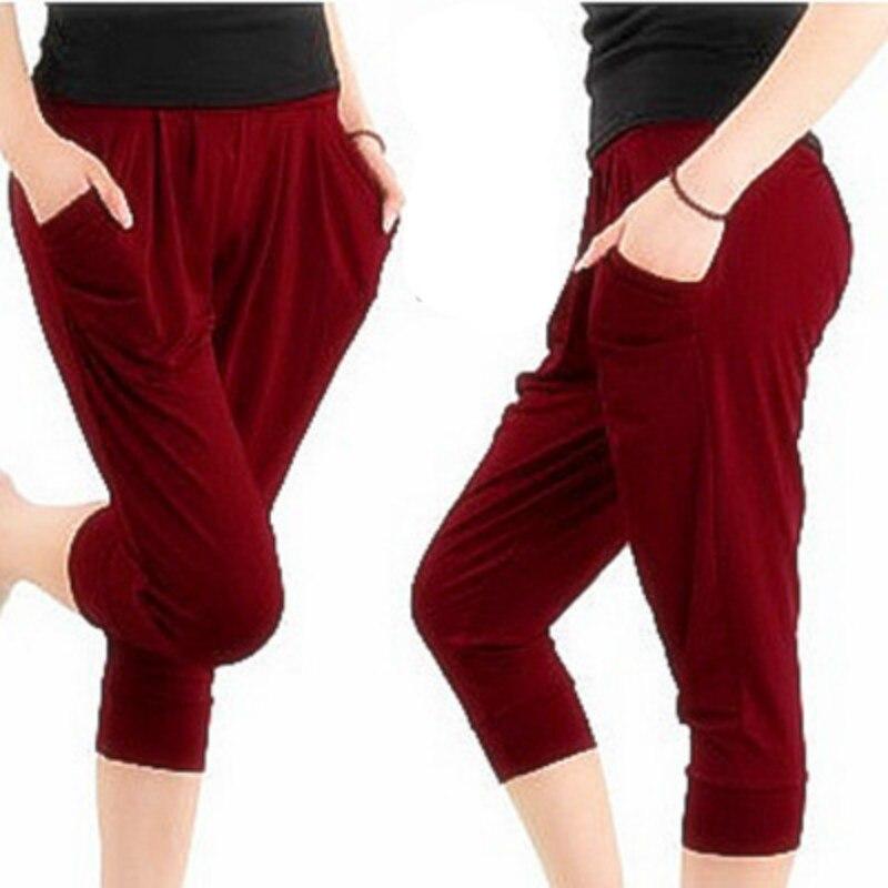 Las mujeres pantalones de bolsillo de verano pantalones de suéter - Ropa de mujer