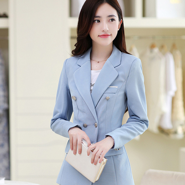 Spring and autumn women 's fashion small suit solid color Slim temperament wild jackets-do912