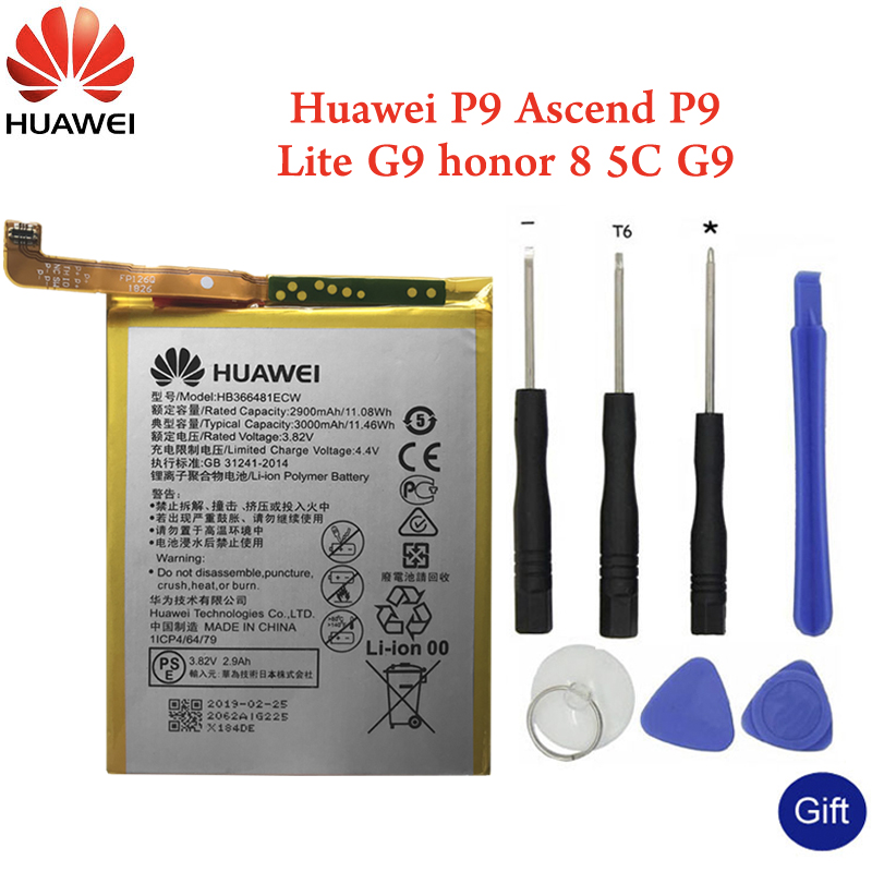 Huawei <font><b>Original</b></font> Phone Battery HB366481ECW For Huawei P9 P10 <font><b>Lite</b></font> <font><b>Honor</b></font> 8 <font><b>9</b></font> <font><b>Lite</b></font> <font><b>honor</b></font> 5C Ascend P9 <font><b>Lite</b></font> G9 7C Battery 3000mAh image