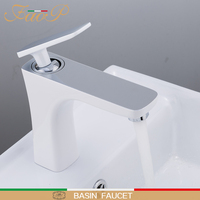 FAOP basin Faucets White bathroom faucet mixer tap sink basin mixer tap bathroom faucet mixer waterfall faucets tapware