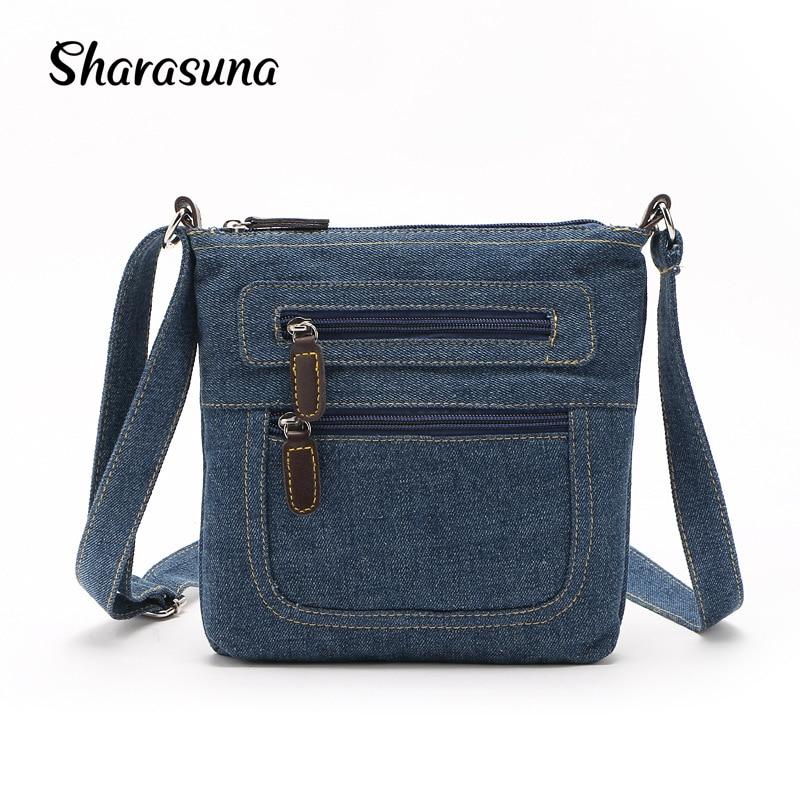 2018 Small Luxury Handbags Women Bag Designer Ladies Hand bags Big Purses Jean Denim Tote Shoulder Crossbody Women Messenger Bag shoulder bag