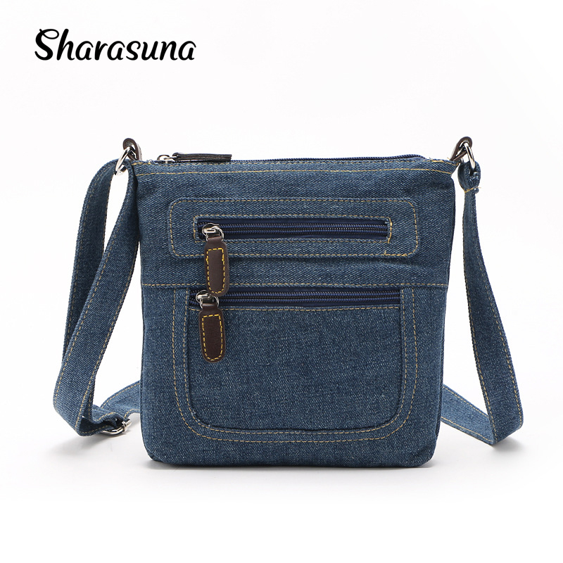 eaf8efc25d7 US $8.85 44% OFF|2018 Small Luxury Handbags Women Bag Designer Ladies Hand  bags Big Purses Jean Denim Tote Shoulder Crossbody Women Messenger Bag-in  ...