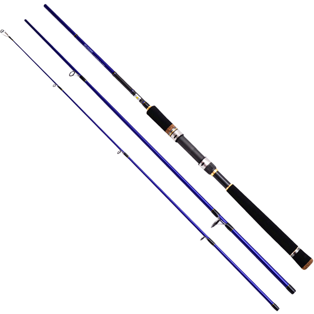 Eurocor high carbon Fuji Accessories 3 m 3.6 m 2.7 m 2.4 m 3 section straight handle lure rod perch rod boat fishing rod