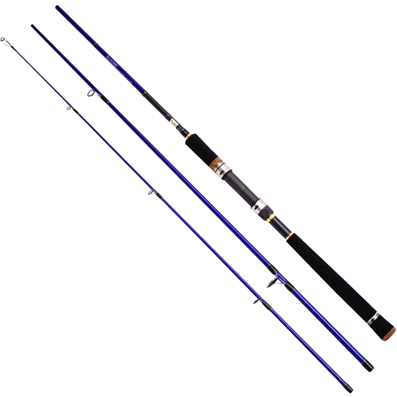 Eurocor high carbon Fuji Accessories 3 m 3.6 m 2.7 m 3 section straight handle lure rod perch rod boat fishing rod ailooge 3 m