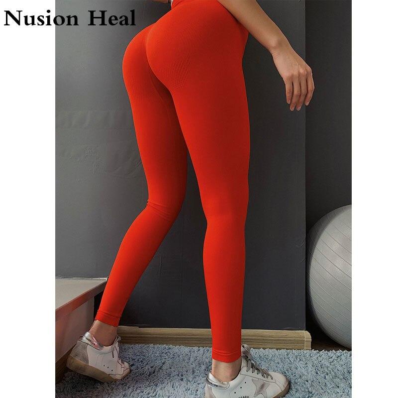 2019 Seamless Leggings Women Hip Push Up Yoga Pants High Waist Booty Leggings Stretchy Tights Women Leggings Sport Fitness in Yoga Pants from Sports Entertainment