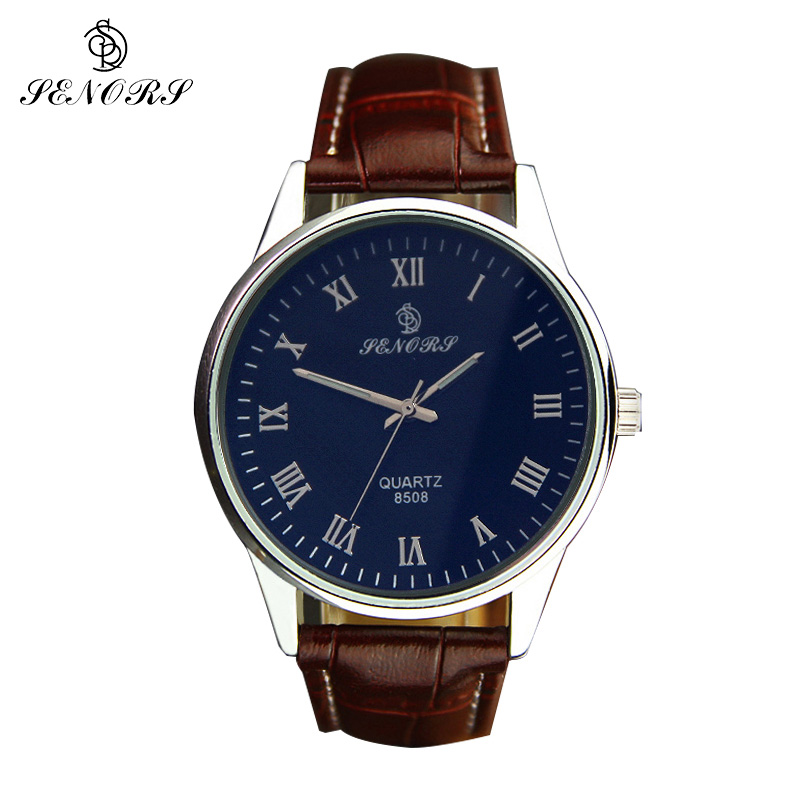 SENORS Men Watches Sports Quartz Clock Man Male Fashion Leather Watch Top Brand Luxury Wristwatch Relogio Masculino Gifts new 2018 men watches luxury top brand skmei fashion men big dial leather quartz watch male clock wristwatch relogio masculino