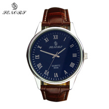 Купить с кэшбэком SENORS Men Watches Sports Quartz Clock Man Male Fashion Leather Watch Top Brand Luxury Wristwatch Relogio Masculino Gifts