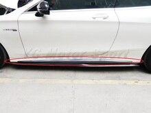Автомобиль Интимные аксессуары углерода Волокно OEM Стиль сбоку Юбки для женщин аддон подходит для 2015-2017 МБ C217 S63 купе сбоку юбка аддон