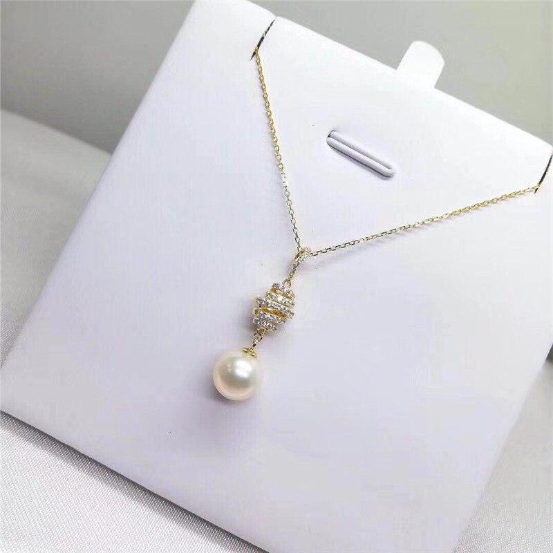 Livraison gratuite solide 18 k or jaune perle pendentif connecteur, tasse et cheville perle Cap, Dangle or fabrication de bijoux, pas de perle pas de chaîne - 5