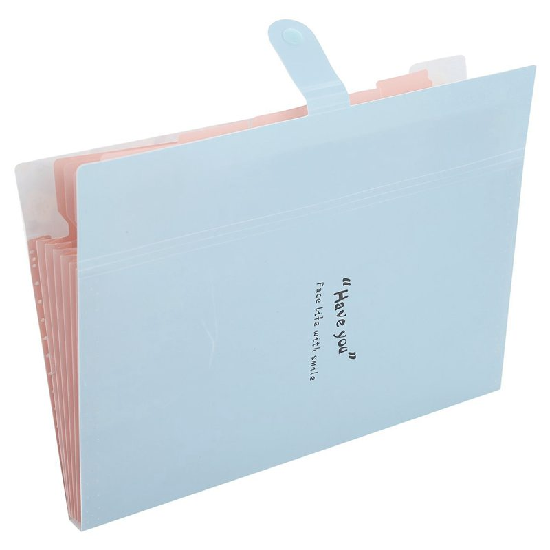 Skydue Floral Printed Accordion Document File Folder Expanding Letter Organizer Blue in File Folder from Office School Supplies