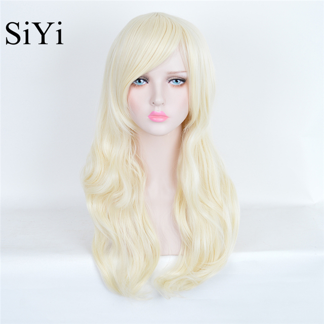 Harajuku Cosplay Wig Fashion New Styles Long Wavy Light Silver Heat Resistant Synthetic Wigs Beauty Forever Hair Fashion Party