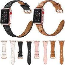 Rosa ouro fivela pulseira de couro genuíno para apple watch band 44mm 42mm 40mm 38mm série 5 4 3 2 1 pulseira para pulseira iwatch