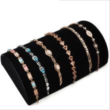 Vente chaude bijoux affichage plaque pendentifs affichage d'affichage de bijoux plateau de mode nappe Fiber De tapis Bracelet collier plateau