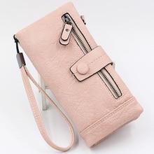 New Wallet Women Long Purse Women's Clutch Bag Female Card Holders Designer Brand Coin Pocket High Quality Vintage Zipper Purses все цены