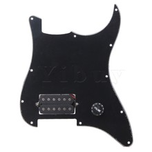 Yibuy Black Prewired Pickguard 1 Humbucker For Electric Guitar