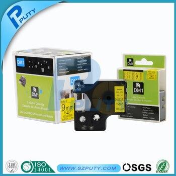 Hot sale DYMO D1 43618 Black on Yellow 6mm D1 label tape compatible DYMO Label Maker