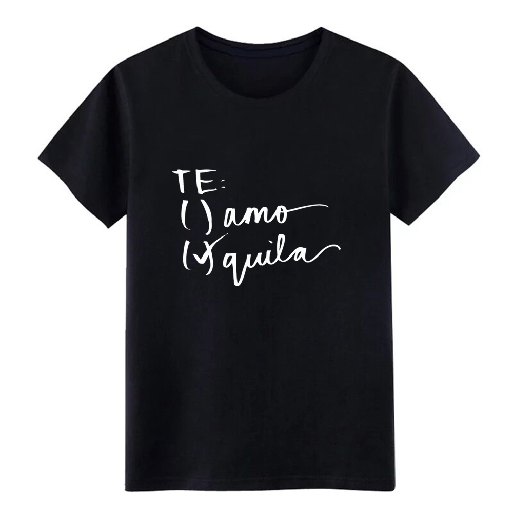 Men's Tequila (white) t shirt personalized cotton round Neck Normal Fit fashion Spring Autumn Outfit shirt