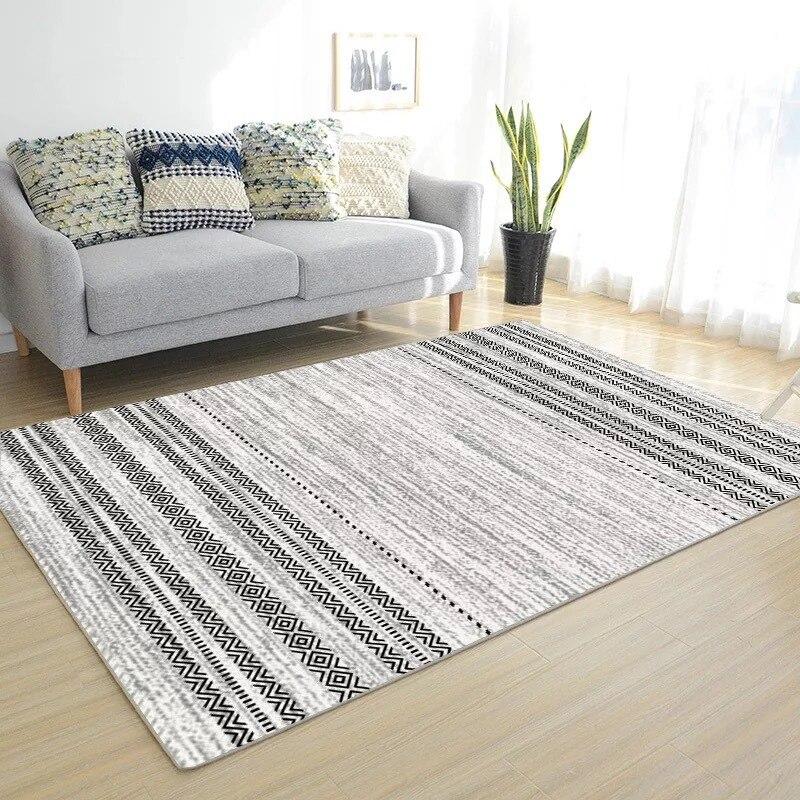 Simplicité Style nordique imprimé tapis grande taille haute qualité maison tapis moderne salon tapis nordique Ins motif géométrique tapis - 4