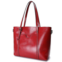 Fashion Brand Designer Genuine Leather Shoulder Bag Perfect Quality Oil Wax Cow Leather Women Handbags