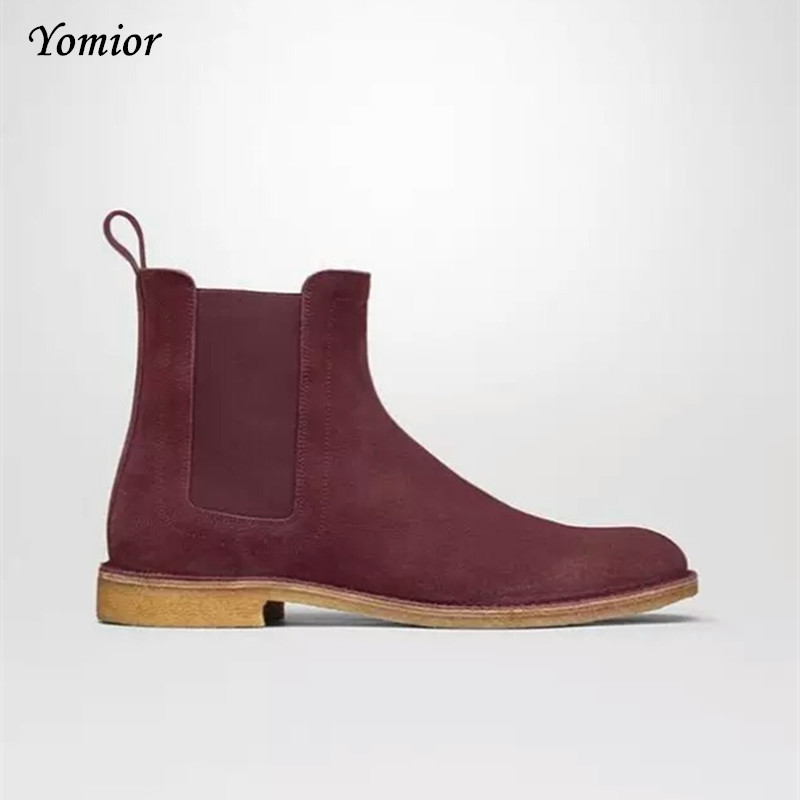 Handmade Men Chelsea Boots Vintage Casual Boots All-matching Kanye - Men's Shoes - Photo 5