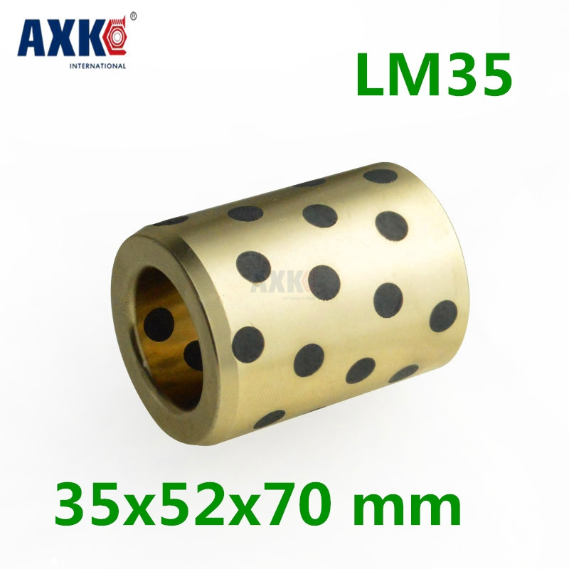 4pcs 35x52x70 Mm Linear Graphite Copper Set Bearing Copper Bushing Oil Self-lubricating Bearing Jdb Free Shipping Lm35uu Lm35 jdb 406080 copper sleeve the same size of lm12 linear solid inlay graphite self lubricating bearing