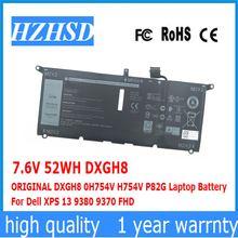 76 в 52 Втч оригинальный dxgh8 0h754v h754v p82g Аккумулятор