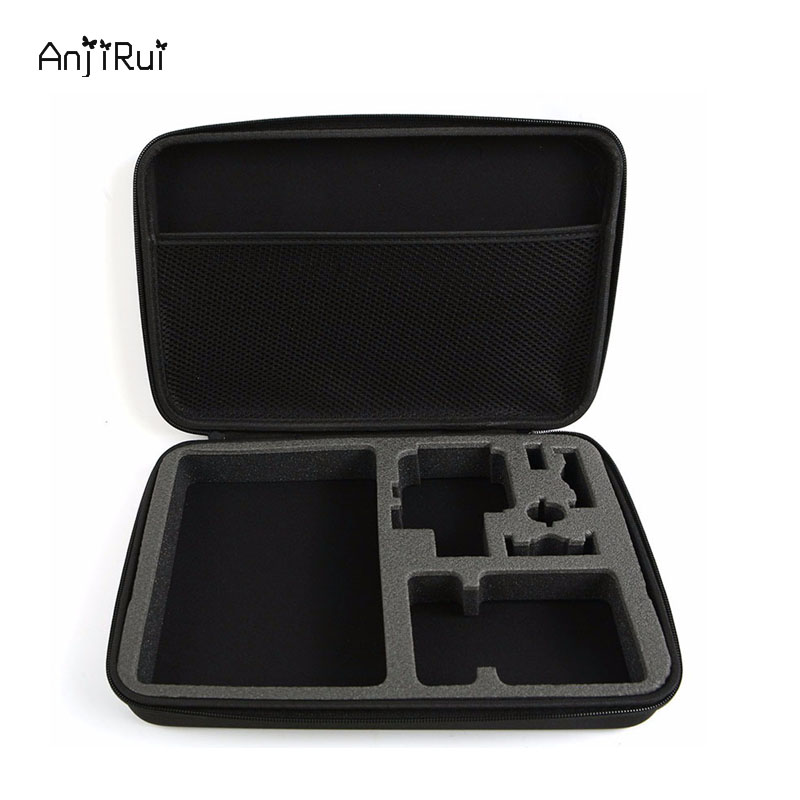ANJIRUI Waterproof Storage Carrying Bag Travel Case for GoPro Hero Sessions 4/4/3+/3/2/1/XiaomiYi Action Camera Case Accessories travel aluminum blue dji mavic pro storage bag case box suitcase for drone battery remote controller accessories
