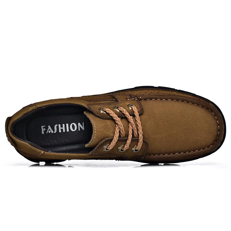 Pria Kulit Sepatu Kasual Oxfords Handmade sepatu Lace Up Gennine - Sepatu Pria - Foto 2