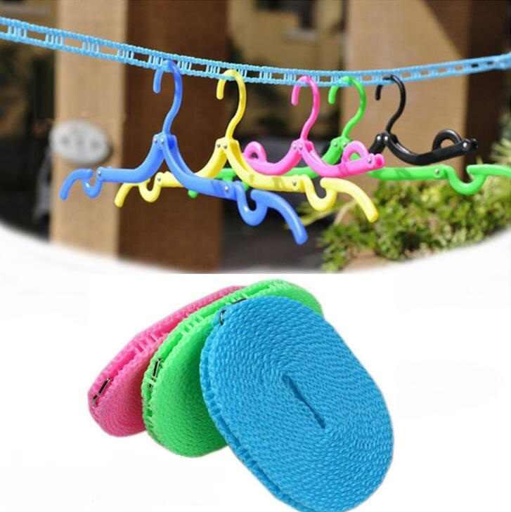 Varais de Secador de Roupa Ao Ar Livre Pano Pendurado Corda Windbreak Não-deslizamento Roupas Varais Hnagers Rack de Cordas