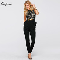 Cuyizan Elegant Long Jumpsuit Women New Spring Summer Casual Ladies One Piece Outfits Rompers Sexy Officewear