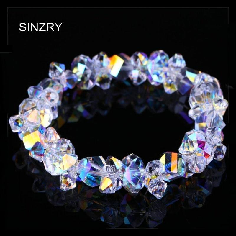 SINZRY jewelry NEW handmade crystal Bracelets imported glass crystal DIY luxury charm bracelets statement jewelry