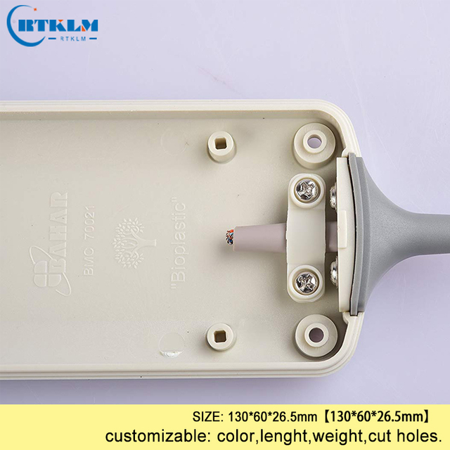Boîtier en plastique ABS pour haut-parleurs de projet électronique boîtier dinstruments bricolage boîte de jonction en plastique portable 130*60*26.5mm