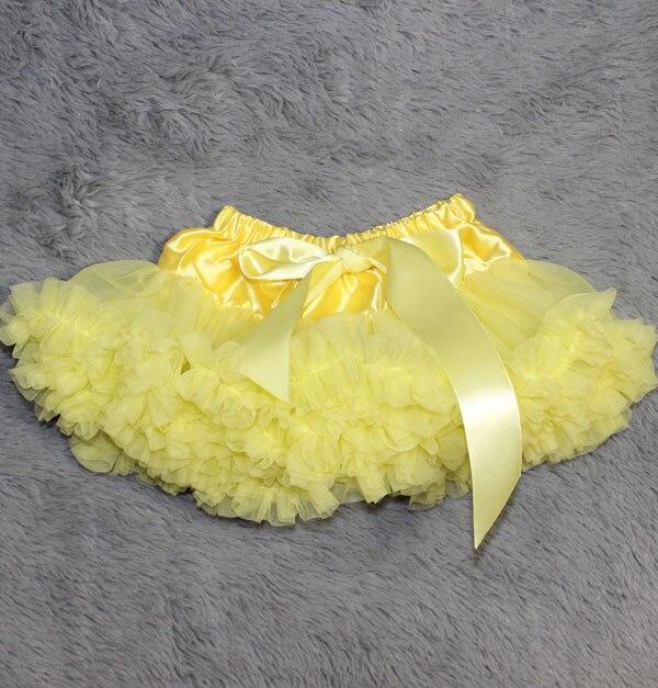 Пышная юбка для малышей Мягкая шифоновая Пышная юбка-пачка для малышей Юбка-пачка для маленьких девочек детская одежда юбка-пачка для новорожденных - Цвет: Цвет: желтый